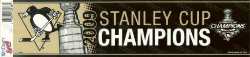 2009 Penguins Stanley Cup Champions Bumper Sticker