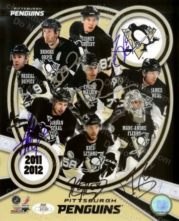 Penguins 2012 Team Collage Autographed 8x10 Photo