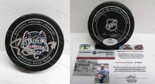 Evgeni Malkin Signed Stadium Series Game Puck