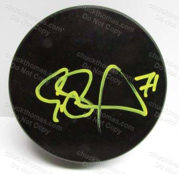 Assistant Penguin Captain Evgeni Malkin Autographed Hockey Puck