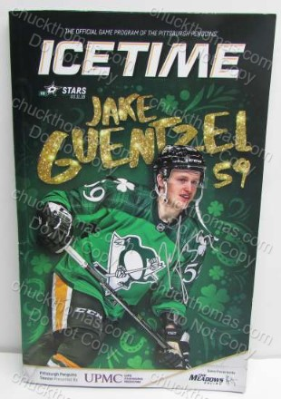 Jake Guentzel Signed ICe Time Magazine