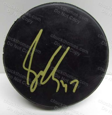 Simon Depres Autographed Hockey Puck