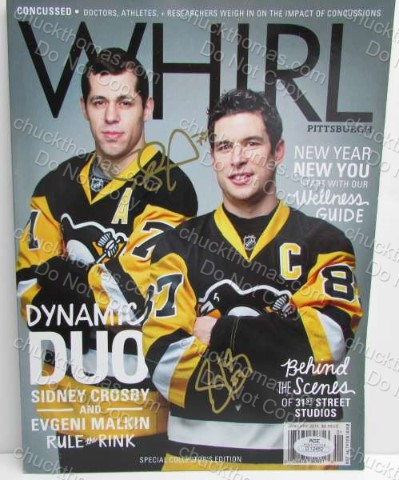 Crosby and Malkin Signed Cover of Whirl Magazine