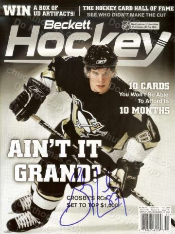 Sidney Crosby Signed November 2005 Beckett Hockey Magazine