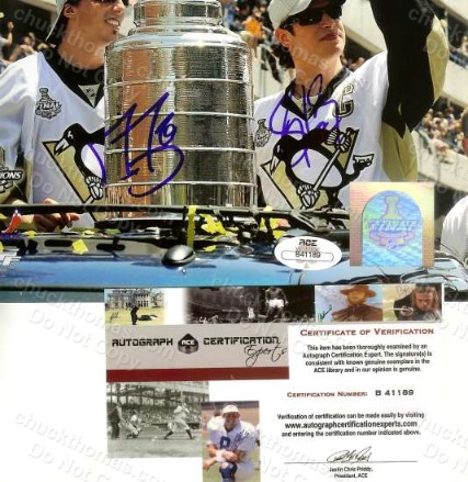 ACE Certificate of Authenticity for an 2009 Penguins Stanley Cup Photo