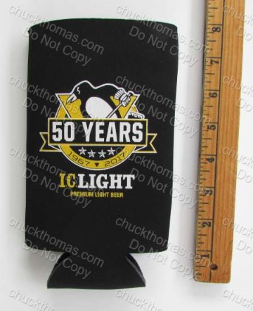 Penguins and Iron City Logos Bottle Holder Koozie