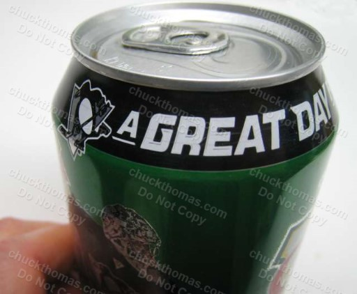 Penguins Great Day For Hockey Staal, Malkin, Cooke and Fleury 4 Soda Can Set