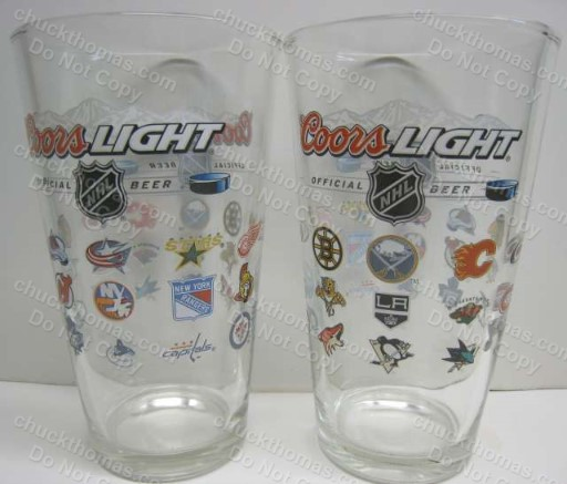 Coors All NHL Logos Heavy Pint Glass