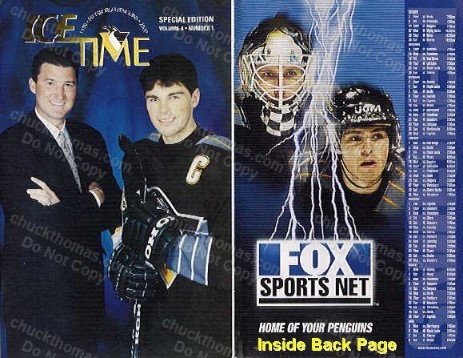 Penguins 1st Home Game Program