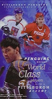 2000-01 Pens Pocket Schedule