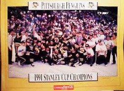 Penguins 1991 SC Champs Coca Cola Poster