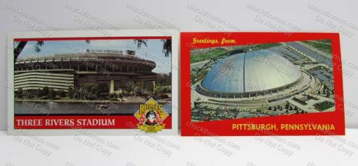 3 rivers Stadium and Civic Arena Postcards