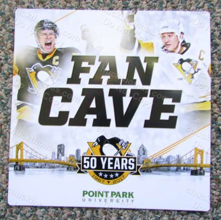 Penguin Hockey 50th Anniversary Logo Fan Cave Magnet Home Game Promotion