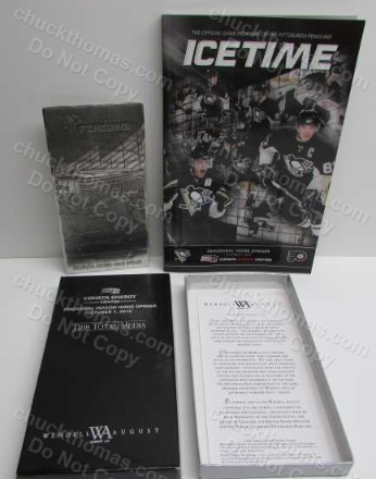 Penguins Inaugural Season Home Opener Consol Center Oct 2010 METAL Ticket and Program