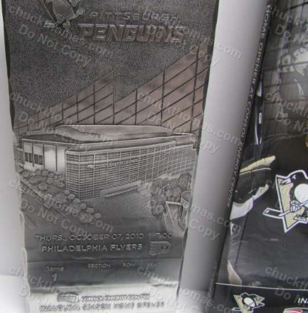 Consol Center October 7 2010 FIRST Penguin Home Game Wendell Forge Metal Ticket