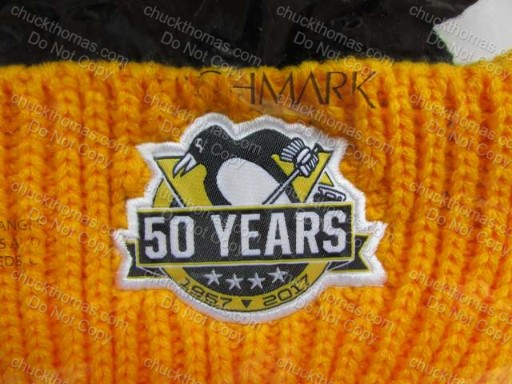 50 Seasons Penguin Hockey Home Game Giveaway Knit Hat