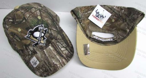 Penguin Hockey Real Tree Brand Camo Caps
