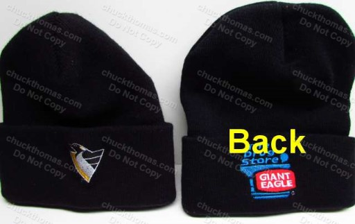 Penguin Logo and Giant Eagle  Drug Store Logos Knit Ski Hat