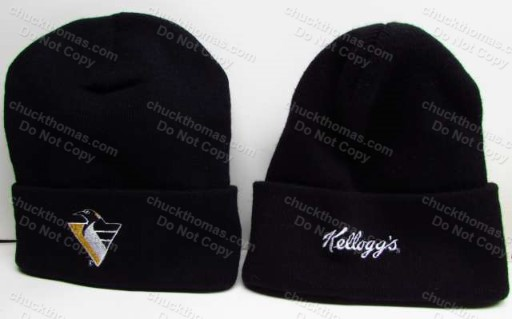 Penguin and Kelloggs Logos Knit Ski Hat
