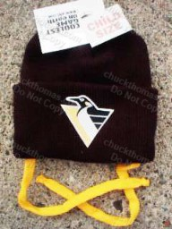 Kids Knit Cap with Gold Ties