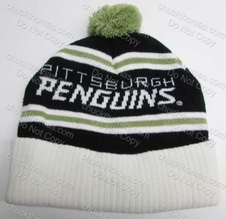 Penguins and Labatt Beer Knit Pom Pom Hat