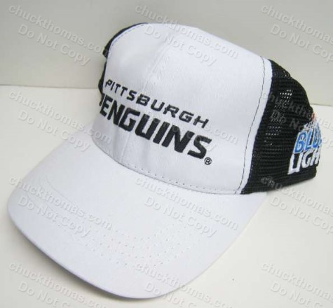 Penguin Hockey Labatt Light Logo White Ball Cap