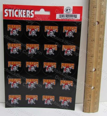 Pittsburgh Pirates Baseball 20 Sticker Sheet