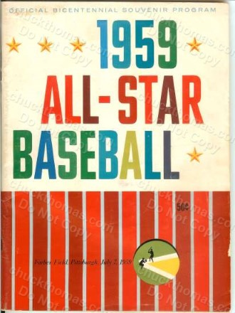 1959 Pirates All Star Program