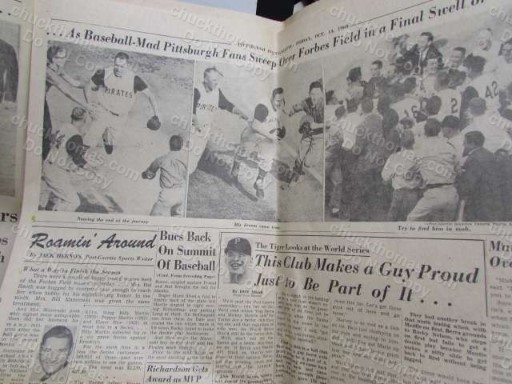 BUCS ARE THE CHAMPS 1960 Newspaper Post-Gazette