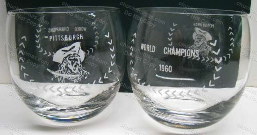 Pittsburgh 1960 World Champs Whisky Glass