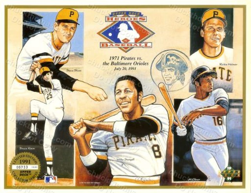 Pirates vs Orioles 1971 Upper Deck Promo Sheet