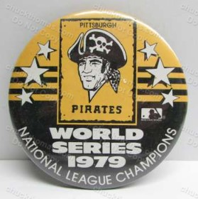 1979 Pirates National Champions 3 Inch Pinback Pin