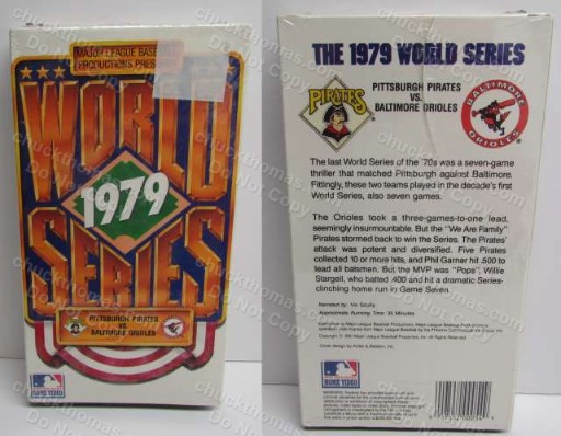 1979 Pittsburgh Pirates World Series ViHS Video Tape