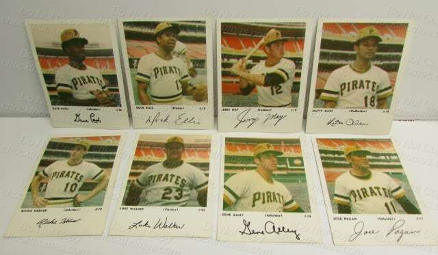 Pirates 1960s Team Issue Cards