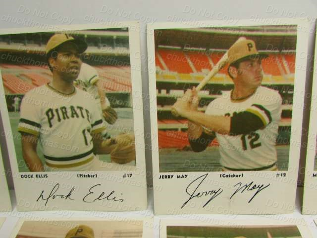 Pirates Baseball Photo Cards 1960s