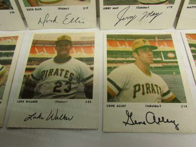Photo Cards with Autographs Pirates
