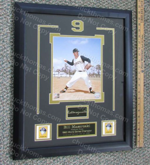 Bill Mazeroski Autographed Limited Edtion 18 x23 Triple Matted Photograph