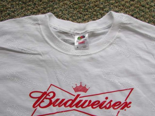 "Pittsburgh Pirates Baseball ""P"" Logo and Bud Logo Extra Large Tee Shirt"