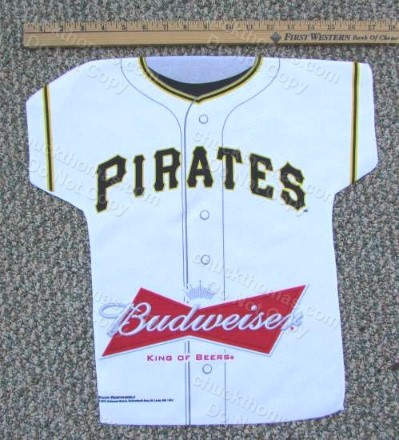 Pirates and Budweiser Logos Jersey Shaped Cheering Towel