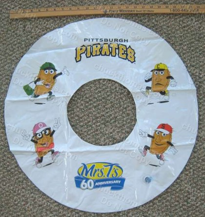 Pirates Baseball Mrs T's 60th Anv Innertube Home Game Promotion