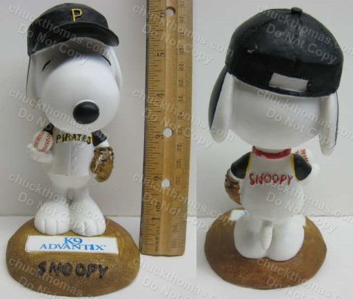 Pirates Baseball Snoppy Bobblehead Home Game Promo