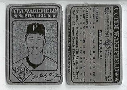 Tim Wakefield Pewter Card