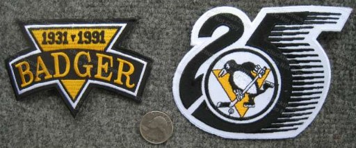 Badger Bob and Pens 25th Anviersary Patches