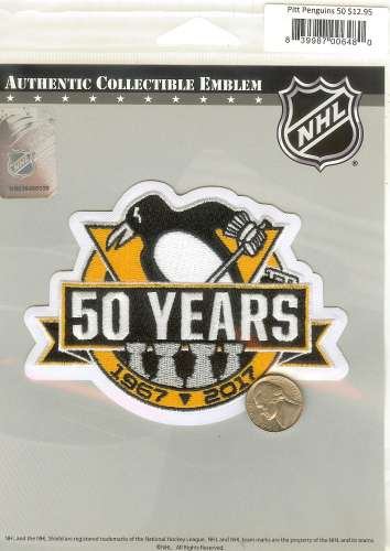 Penguin Hockey 50th Anniversary 4 Stanley Cup Cloth Patch