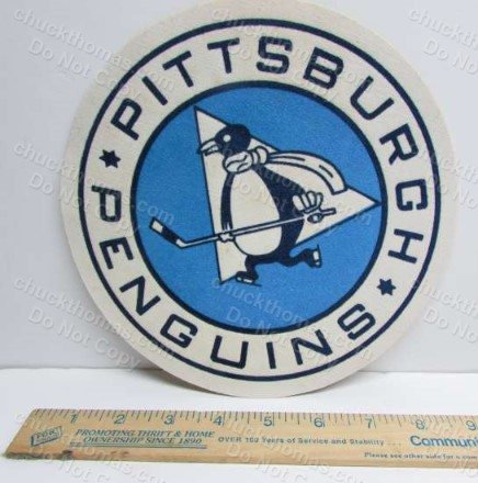 1967 Logo Penguin Hockey FIRST Year 8 Inch Jersey Crest