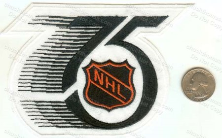 NHL 75th Anv Patch