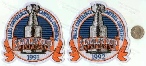 1991 and 1992 Stanley Cup Patches