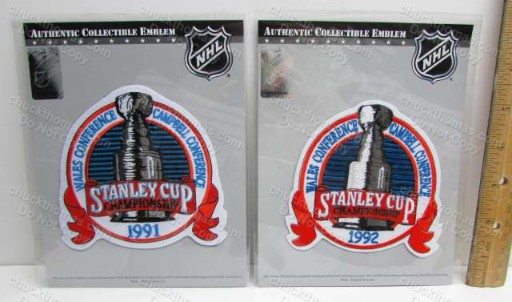 Penguins 1991 ad 1992 Stanley Cup Cloth Jersey Patches
