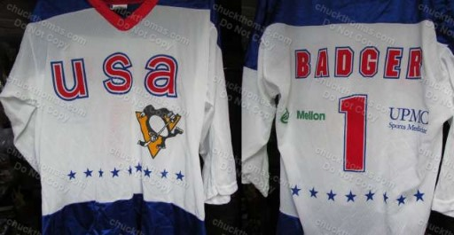 Badger Bob Johnson USA #1 Youth Olympic Jersey
