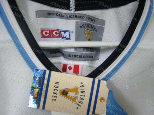 Pens 1970s CCM Vintage Replica Series Blue and White Jersey